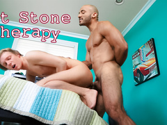 Bald twink fucker got teen guy on the bed and fucking him hard