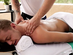 Tenderling twink comes to massage and gets pounded in the asshole