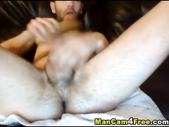 Nasty gay dude with skinny body is fucking ass with dildo