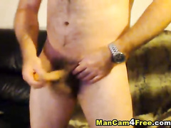Some hunk is pleasantly fondling his dick and ass