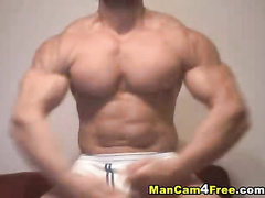 Steaming sexy gay dude is showing off his rocky body shape