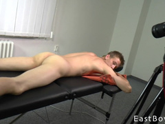 Gay needs masturbation to get his dick harder