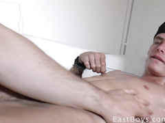 Young boy loves getting ass massaged