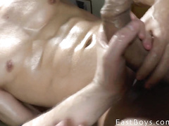 Latin boy gets sex pleasure in the shower