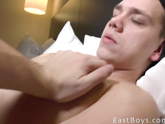 Touch gay hard penis and erected nips