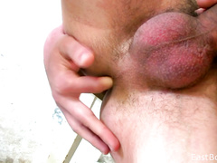 Blowing cock and finger fucking asshole