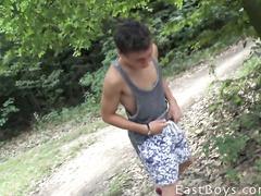 Young gay boy underpant masturbation outdoor