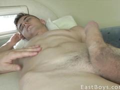 Exciting closeups of gay big cock masturbation